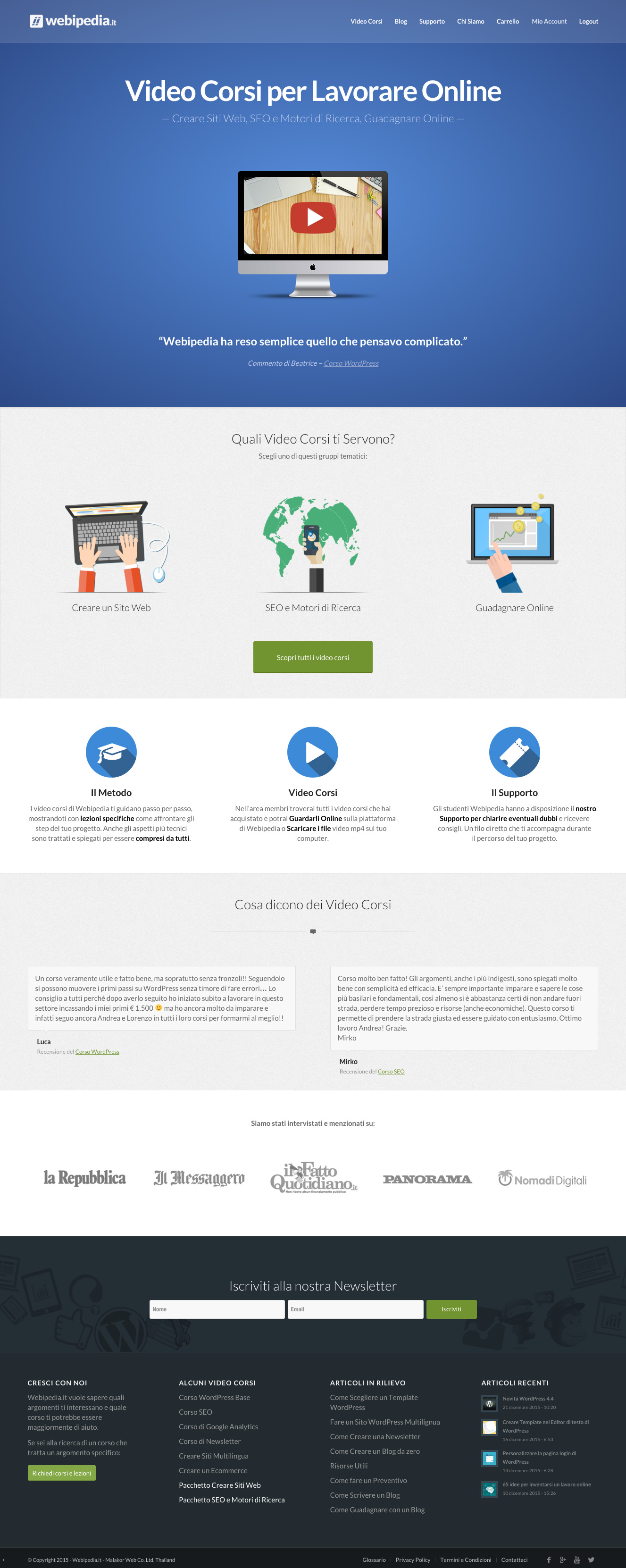 Webipedia.it: Video Corsi Online