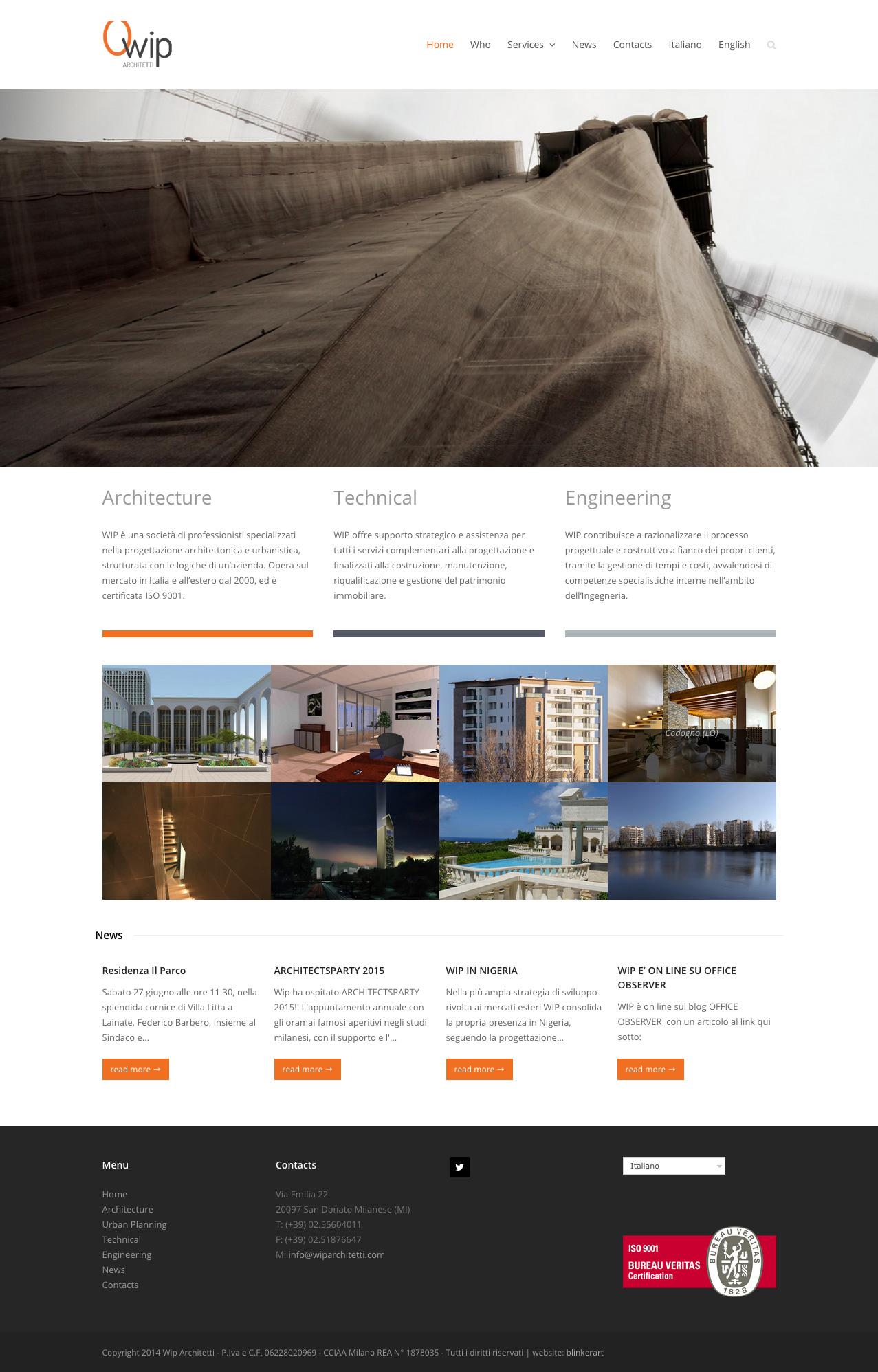 Realizzazione sito web e retstyling logo per wip architetti for Sito per architetti